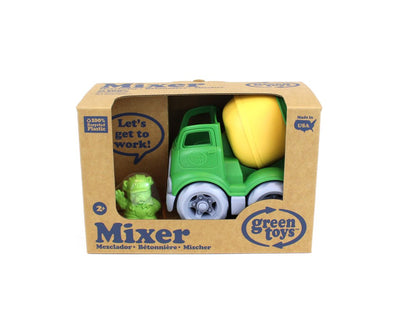 Green Toys™ Mixer Construction Truck Green/Yellow, 100% recycled plastic, The Elly Store