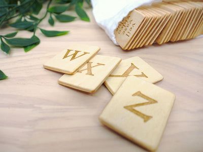 Wooden Lowercase Letters | Learning the Alphabets | The Elly Store