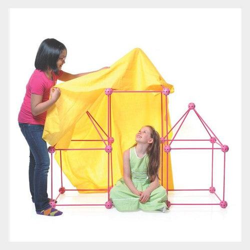 Crazy Forts Pink Kids DIY Play House Tent