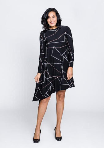 Crew Neck Swing Dress