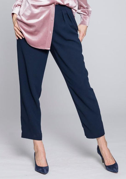 Pleated Crepe Trouser