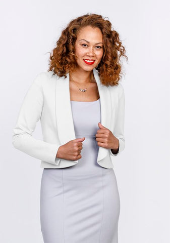 Cropped Rolled Collar Blazer