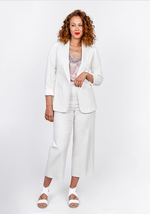 Linen Cropped Trouser