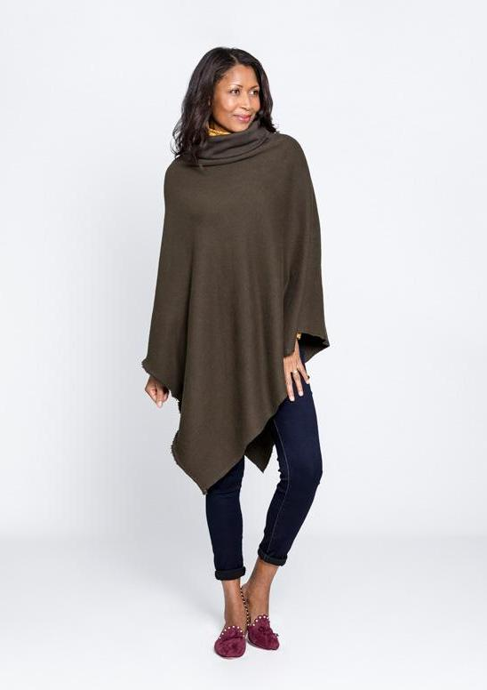 Cozy Turtleneck Cape