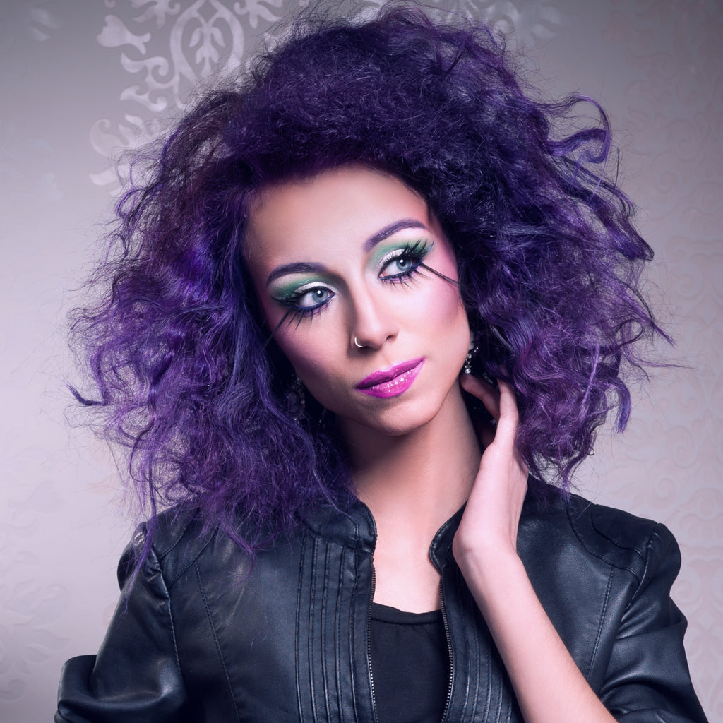 Blackberry Violet Hair - A Fun New Look That's Perfect For Brunettes and Blondes.