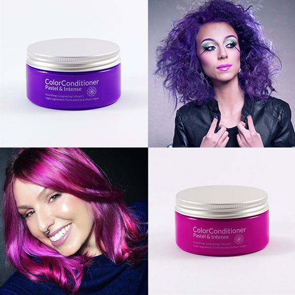 Intense Violet Purple + Intense Magenta Pink Bundle (400 ml)
