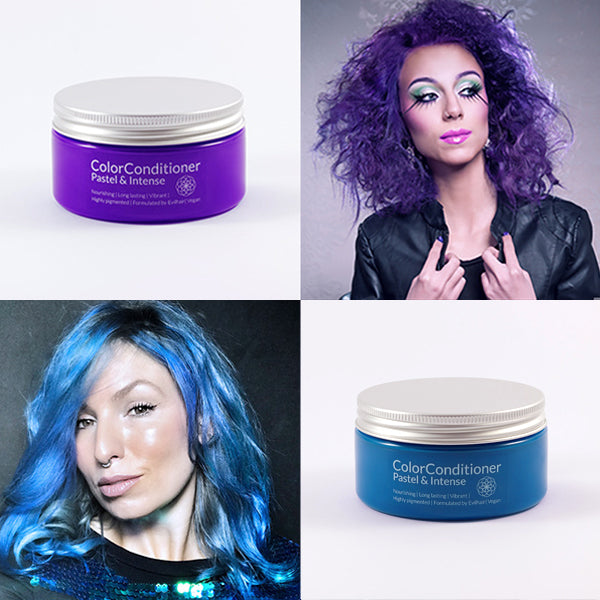 Intense Violet Purple + Pastel Sky Blue Bundle (400 ml)
