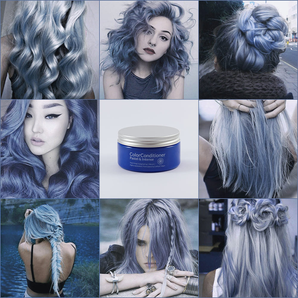 Pastel Silver Blue 200 Ml Hair Color Conditioner Evilhair