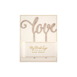 Botanical Love Wooden Cake Topper