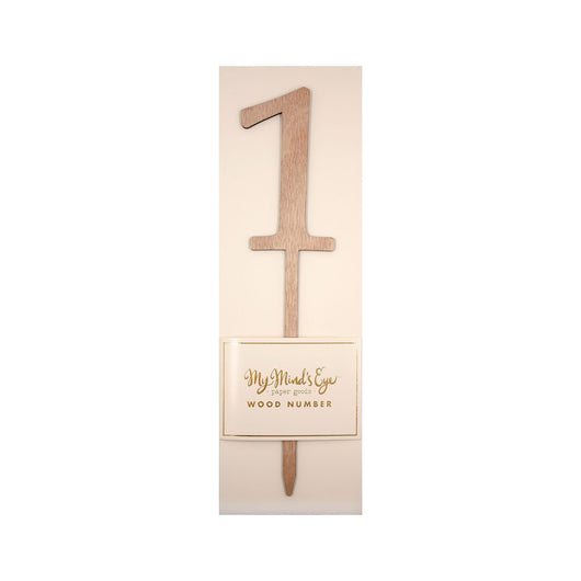 Botanical Wooden Table Number