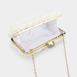 Pearl Cluster Evening Clutch Bag