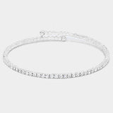 Single-Lined Crystal Evening Bracelet