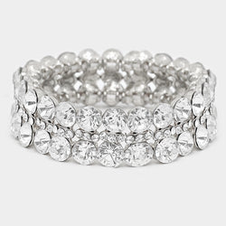 Crystal Rhinestone Evening Bracelet