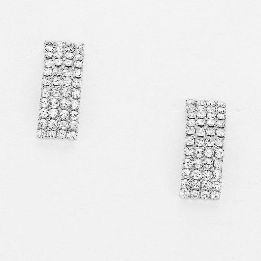Crystal Rhinestone Bar Earrings