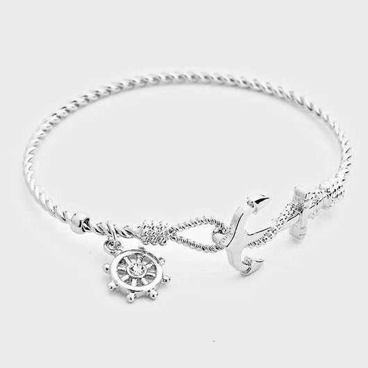 Nautical Anchor Charm Bracelet