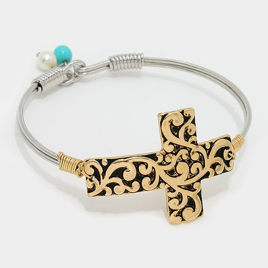 Cross Hook Bracelet