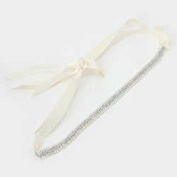 Crystal Rhinestone Sash Ribbon Headband