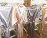 Solid Satin Robe