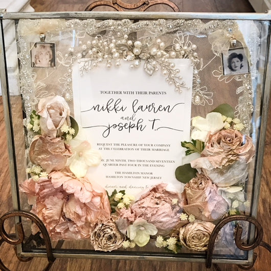 Shadow Box Preservation Mds Floral