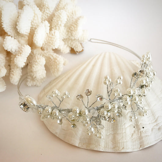 Pearl and Rhinestone Flexi-wire Headband