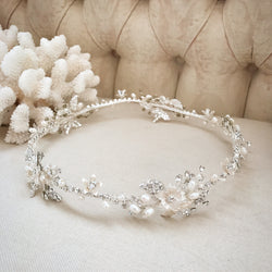 Silver Embellished Hair Crown