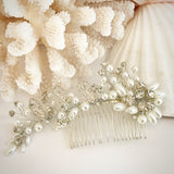 Pearl and Rhinestone Flexi-wire Hair Comb