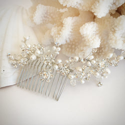 Pearl and Crystal Flexi-wire Hair Comb