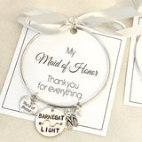 "Bridal Party Beach Badge Bangle ""LBI"""