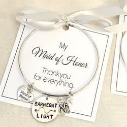 Bridal Party Beach Badge Bangle