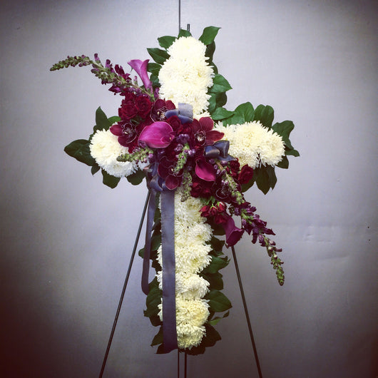 Funeral Cross Spray