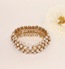 Retro Rhinestone Stretch Bracelet
