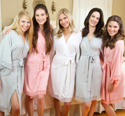 Jersey Knit Lace Robes