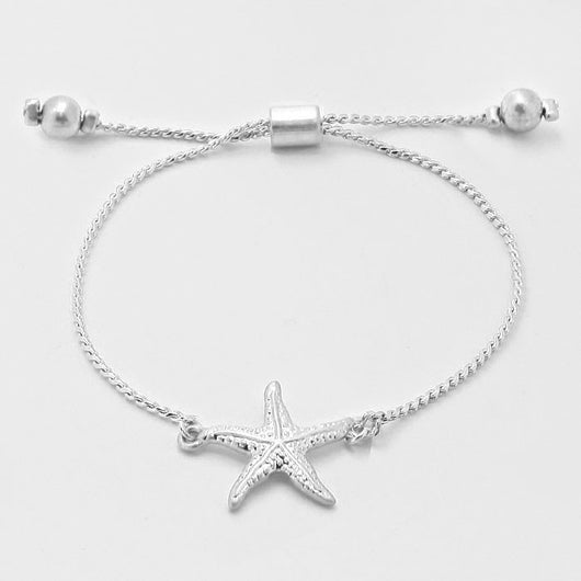 Starfish Link Chain Adjustable Bracelet