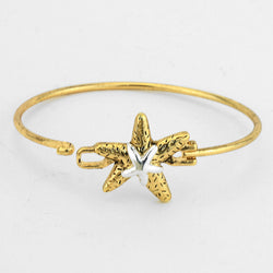 Two-tone Starfish Hook Bracelet