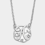 Monogram Script Pendant Necklace