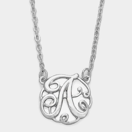 Monogram Large Script Necklace