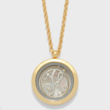 Monogram Floating Locket Pendant Necklace