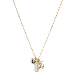 Heart & Crystal Anchor Charm Necklace