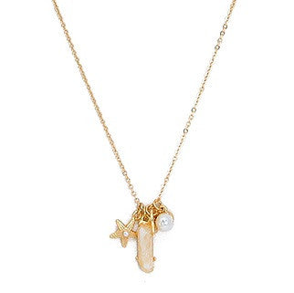 Starfish & Leaf Charm Necklace