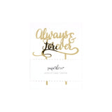 Gold Always and Forever Cake Topper