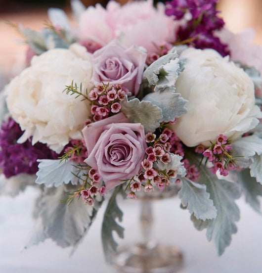 Lavender and White Floral Arrangement
