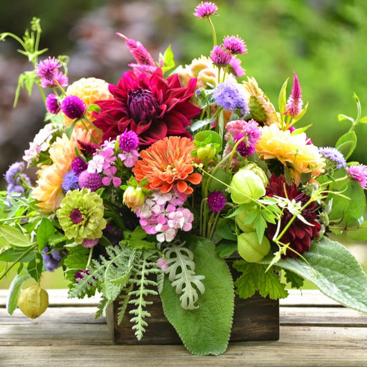 Vibrant Fresh Flower Box Arrangement
