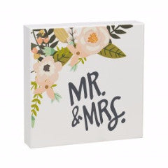 Mr. & Mrs. Floral Box Sign