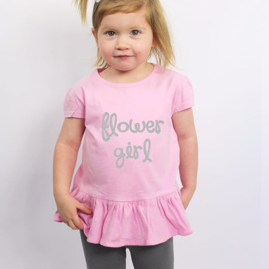 Flower Girl Ruffle Shirt