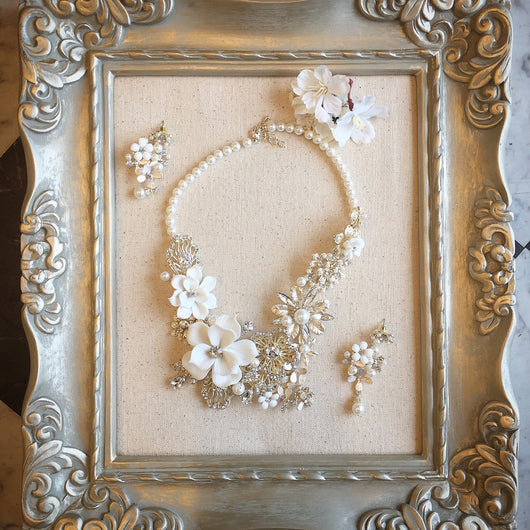 Porcelain Floral Necklace Set