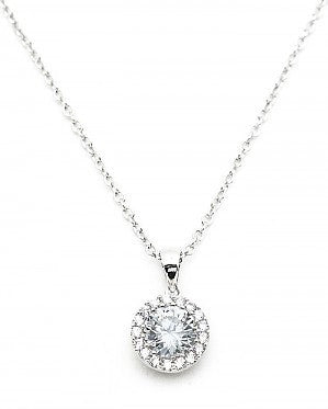 Round Pave Pendant Necklace