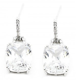 Square Cz Crystal Earrings
