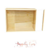 Wood Gift Box /Acrylic Slide Top