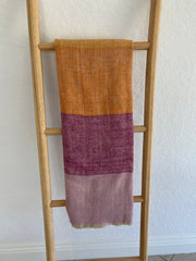 Cashmere Pondichery Sunset Stripe Shawl