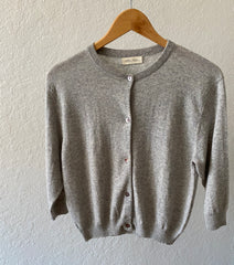 Cashmere Women's modern  button cardigan sweater
